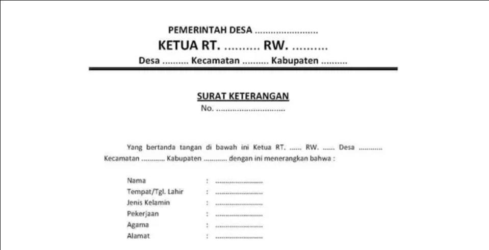 Meminta Surat Pengantar RT dan RW
